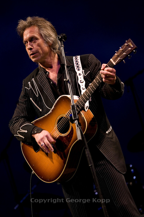 """Jim Lauderdale at the 2008 New York Guitar Festival on Saturday 1/12/2008 at the World Financial Center Winter Garden in lower Manhattan. The opening night concert of the festival was titled the """"Royal Albert Hall"""" Project a tribute to Bob Dylan's early 'electric' concerts in England in 1966. Mr. Lauderdale performed 'Tell me Momma'."""