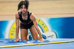 Killiana Heymans in action on the pole vault during AA Drink Dutch Athletics Championship Indoor on 21 February 2021 in Apeldoorn.