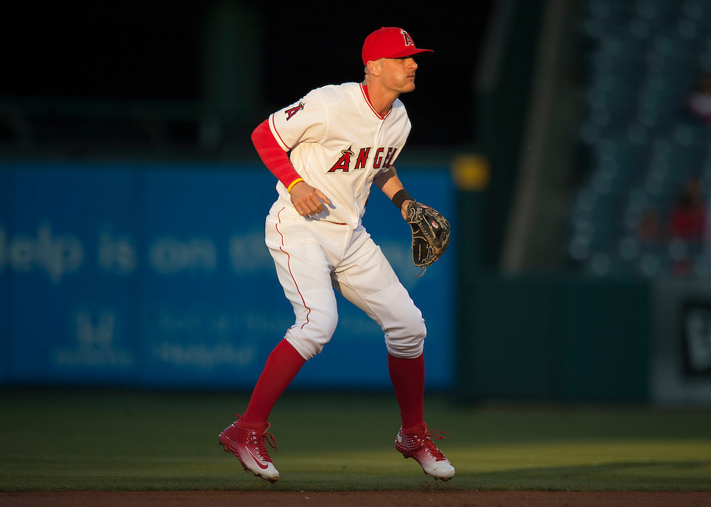 New Angel Brendan Ryan got the start at shortstop during the Angels' 5-2 loss to the St. Louis Cardinals Wednesday night at Angel Stadium.<br /> <br /> ///ADDITIONAL INFO:   <br /> <br /> angels.0512.kjs  ---  Photo by KEVIN SULLIVAN / Orange County Register  --  5/11/16<br /> <br /> The Los Angeles Angels take on the St. Louis Cardinals at Angel Stadium Wednesday.<br /> <br />  5/11/16