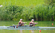 Lucerne. Switzerland, CAN W2X. Kerry SHAFFER (b) , Emily CAMERON (s)  Rotsee Lake.  15:22:00  Saturday  13/07/2013  [Mandatory Credit, Peter Spurrier/ Intersport Images]