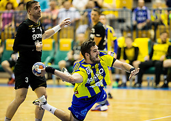 Kristian Beciri of Celje during handball match between RK Celje Pivovarna Lasko and RK Gorenje Velenje in Last Round of 1. Liga NLB 2016/17, on June 2, 2017 in Arena Zlatorog, Celje, Slovenia. Photo by Vid Ponikvar / Sportida