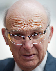 RE-ISSUE NOTE THIS IS A TODAY PICTURE © London News Pictures. 10/03/2012.Newcastle, UK. Business Secretary VINCE CABLE wearing protective glasses while on a tour of Siemens Energy Service Training Centre in Newcastle Upon Tyne on March 11th 2012 where he met craft apprentices with Liberal Democrat leader NICK CLEGG The Liberal Domocrat Spring Conference is being held in Newcastle this weekend. Photo credit : Ben Cawthra/LNP