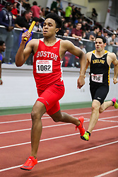 BU Terrier Indoor track meet<br /> 4x400 relay, Boston U, Rickerby