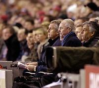 Photo: Jed Wee.<br /> England v Uruguay. International Friendly. 01/03/2006.<br /> <br /> England manager Sven Goran Eriksson looks on.