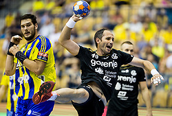 Alem Toskic of Gorenje during handball match between RK Celje Pivovarna Lasko and RK Gorenje Velenje in Last Round of 1. Liga NLB 2016/17, on June 2, 2017 in Arena Zlatorog, Celje, Slovenia. Photo by Vid Ponikvar / Sportida