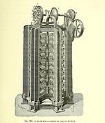 Electro motor by Gustave Forment From the Book Les merveilles de la science, ou Description populaire des inventions modernes [The Wonders of Science, or Popular Description of Modern Inventions] by Figuier, Louis, 1819-1894 Published in Paris 1867