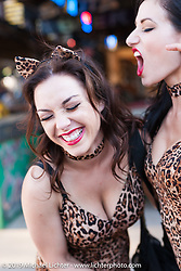Gigi Deck and Amie Nicole on Saturday at the Full Throttle Saloon during the annual Black Hills Rally. Sturgis, SD, USA. August 2, 2014.  Photography ©2014 Michael Lichter.
