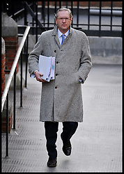 John Witherow, editor of The Sunday Times, arrives at The High Court to give evidence to the Leveson Inquiry on January 17, 2012 in London, England. The inquiry is being lead by Lord Justice Leveson and is looking into the culture, practice and ethics of the press in the United Kingdom. Photo By Andrew Parsons/i-Images