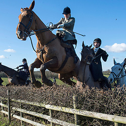 Mcc0045254.DT News. Ingarsby Old Hall, Ingarsby.The Bernard Weatherill Diana's of the chase.16 female horse riders took part in the first sidesaddle race for 90 years the last recorded race was at Motcombe Dorset in 1921.Pic Shows race organiser Philippa Holland jumping a fence on her hunter Tick Tock