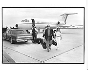 Michael Fuchs arriving at Quogue airport in a small jet. Long Island. 1990 approx. © Copyright Photograph by Dafydd Jones 66 Stockwell Park Rd. London SW9 0DA Tel 020 7733 0108 www.dafjones.com