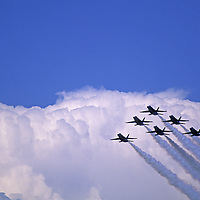 """MONTANA, U.S Navy """"Blue Angels"""" precision flying team performs at air show in Bozeman"""