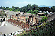 Amphitheatre stage at the archaeological site of Roman Pompeii, Italy 1999