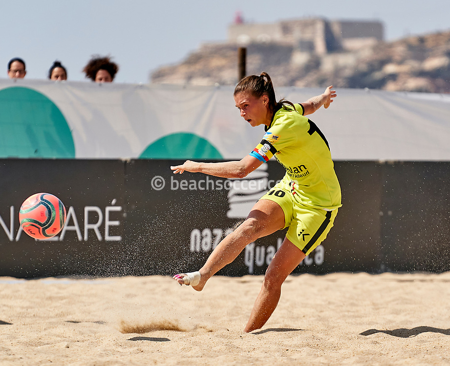 NAZARE, PORTUGAL - SEPTEMBER 12: Anaelle Wiard of New Team during day 5 of the Euro Winners Cup at Estadio do Viveiro on September 12, 2020 in Nazare, Portugal. (Photo by Jose Manuel Alvarez/BSWW)