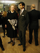 Amin Jaffer and  Lady Rayne  Art Deco 1910-1939, V. & A. 26 March 2003. © Copyright Photograph by Dafydd Jones 66 Stockwell Park Rd. London SW9 0DA Tel 020 7733 0108 www.dafjones.com