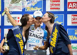 08.07.2012, Universitaetsring, Wien, AUT, 64. Oesterreich Rundfahrt, 8. Etappe, Podersdorf am Neusiedler See - Wien, im Bild Angelo Pagani (ITA, Platz 11, bester unter 25 jähriger, Colnago - CSF Inox) // 11th place, best under 25 years, Colnago - CSF Inox driver Angelo Pagani of Italy during the 64th Tour of Austria, Stage 8, from Podersdorf/Neusiedlersee to Vienna, Vienna, Austria on 20120708, EXPA Pictures © 2012, PhotoCredit: EXPA/ M. Gruber