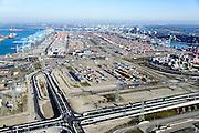 Nederland, Zuid-Holland, Rotterdam, 18-02-2015; Tweede Maasvlakte (MV2), Europaweg. Zicht op Delta Terminal, van APM Terminals Rotterdam en ECT.<br /> Maasvlakte 2, Delta Terminal, APM Terminals Rotterdam en ECT.<br /> luchtfoto (toeslag op standard tarieven);<br /> aerial photo (additional fee required);<br /> copyright foto/photo Siebe Swart