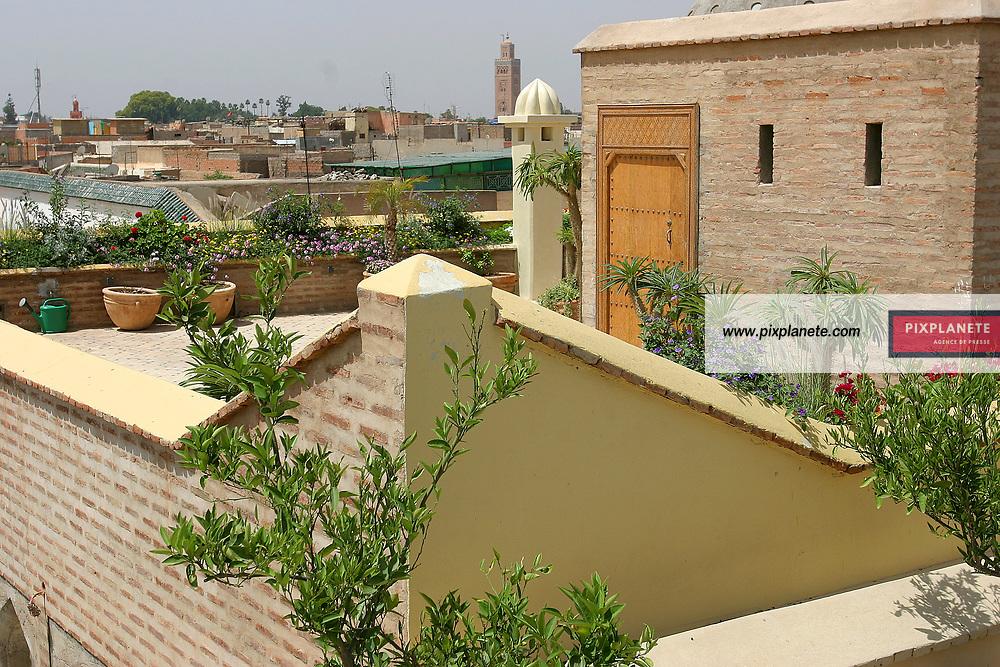 A Marrakech, le riad Talaa12 de Marianne Lacroix est le nouvel endroit à la mode au Maroc. Adresse: 12 talaa ben youssef 40000 marrakech - medina Mai 2005 - JSB / PixPlanete
