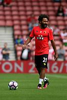 Football - 2016 / 2017 Premier League - Southampton vs. Watford<br /> Ikechi Anya of Watford before kick off at St Mary's Stadium Southampton <br /> <br /> Colorsport/Shaun Boggust