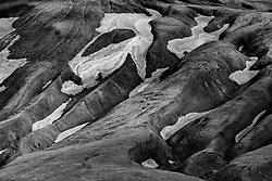 Mountain scenery, at the way Domadalsleid, Iceland - Fjallasýn á Dómadalsleið