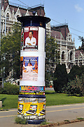 Eastern Europe, Hungary, Budapest, A billboard announcing various shows