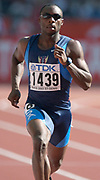 Jerome Young of the United States in the second round of the 400 meters in the IAAF World Championships in Athletics at Stade de France on Sunday, Aug, 24, 2003.