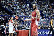 DESCRIZIONE : Milano Eurolega Euroleague 2013-14 EA7 Emporio Armani Milano Olympiacos Piraeus<br /> GIOCATORE : Vassilis Spanoulis<br /> CATEGORIA : Delusione <br /> SQUADRA :  Olympiacos Piraeus<br /> EVENTO : Eurolega Euroleague 2013-2014 GARA : EA7 Emporio Armani Milano Olympiacos Piraeus<br /> DATA : 09/01/2014 <br /> SPORT : Pallacanestro <br /> AUTORE : Agenzia Ciamillo-Castoria/I.Mancini<br /> Galleria : Eurolega Euroleague 2013-2014 <br /> Fotonotizia : Milano Eurolega Euroleague 2013-14 EA7 Emporio Armani Milano Olympiacos Piraeus <br /> Predefinita