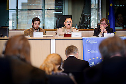Brigadier General Salim Idriss, Chief of Staff of the Free Syrian Army, speaks at the European Parliament, in Brussels, Belgium on Monday, March 6, 2013. Idriss was a general in the Syrian Army when he defected in July 2012. (Photo © Jock Fistick)