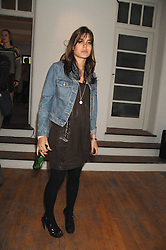 CHARLOTTE CASIRAGHI daughter of Princess Caroline of Monoco at a party to celebrate the opening of a new art gallery, 20 Hoxton Square, Hoxton Square, London on 27th April 2007.<br />