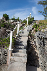 cement staircase at the beach in Bermuda