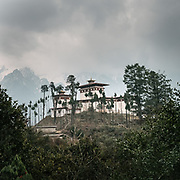 The Gasa buddhist monastery or Gasa Dzong.