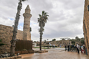 Turret of the mosque, erected by Moslems from Bosnia, Caesarea, Israel