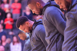 January 11, 2019 - Toronto, Ontario, Canada - Toronto Raptors players during the performance of the national anthem before the Toronto Raptors vs Brooklyn Nets NBA regular season game at Scotiabank Arena on January 11, 2019, in Toronto, Canada (Toronto Raptors win 122-105) (Credit Image: © Anatoliy Cherkasov/NurPhoto via ZUMA Press)