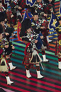 23.07.2014. Glasgow, Scotland. Glasgow Commonwealth Games. The opening ceremony. Scottish pipers during the openign ceremony.