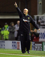 Photo: Paul Thomas.<br /> Burnley v Norwich City. Coca Cola Championship. 23/10/2007.<br /> <br /> Stand in manager Jim Duffy of Norwich.