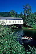 Image of the Belknap Covered Bridge on the McKenzie River, Blue River, Oregon, Pacific Northwest by Randy Wells