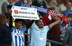 Brighton & Hove Albion fans show their support in the stands