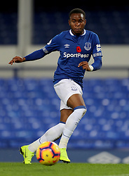 Everton's Ademola Lookman during the SportPesa Trophy match at Goodison Park, Liverpool. PRESS ASSOCIATION Photo. Picture date: Tuesday November 6, 2018. See PA story SOCCER Everton. Photo credit should read: Richard Sellers/PA Wire