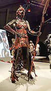 """Ornitho-Maia (The Bird Mother)"" (2008) costume by Nadine Jaggi. WOW, World of Wearable Art (TM) is New Zealand's largest arts show. This showcase of work emerges from WOW, a spectacular international design competition where art and fashion intersect. This July 8, 2016 photo is from an exhibition at the EMP Museum, now called MOPOP (Museum of Pop Culture), Seattle, Washington, USA. For licensing options, please inquire."