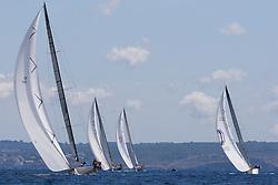 © Sander van der Borch. Palma de Mallorca, Spain. Hublot Palmavela 2009, 15 to 19 April 2009. Ran leading the fleet..