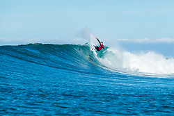 Joel Parkinson (AUS) is eliminated from the 2018 Corona Open J-Bay after placing third in Heat 1 of Round 4 at Supertubes, Jeffreys Bay, South Africa.  Parkinson will retire from full time Championship Tour competiton at the end of 2018 and this was his last professional heat in Jeffrey's Bay.