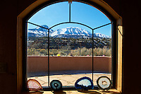 """Window to Sleeping Ute. Elderhostel """"Southwest Photography"""" Workshop Day 2. Kelly Place Cortez Colorado. Image taken with a Nikon D3 and 24-70 mm f/2.8 VR lens (ISO 200, 24 mm,  f/22, 1/200 sec)"""