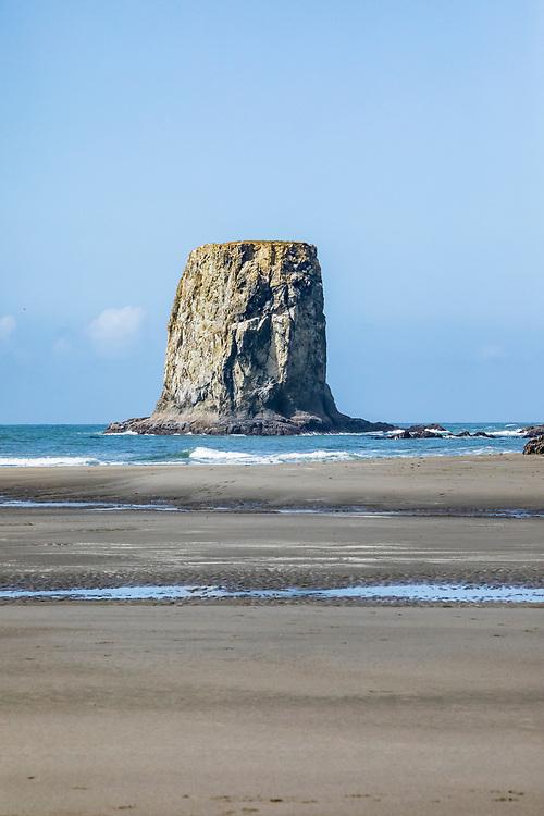 A seastack off of 2nd Beach, Olympic Coast National Marine Sanctuary / National Park, Washington, USA.