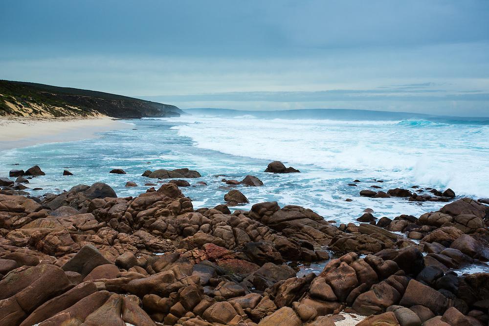 Winter weather along the coast, Cape Naturaliste. Leeuwin-Naturaliste National Park.