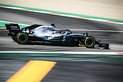 May 12, 2019 - Barcelona, Catalonia, Spain - LEWIS HAMILTON (GBR) from team Mercedes drives in his W10 during the Spanish GP at Circuit de Catalunya (Credit Image: © Matthias OesterleZUMA Wire)