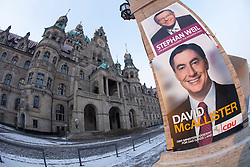 The half-Scottish Prime Minister David McAllister of Lower Saxony, invited The Scottish Sun's Graeme Donohoe to attend today's cabinet meeting. Pic of The New City Hall or New Town Hall in Hanover, Germany..©Michael Schofield.