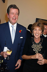 LORD CHARLES and LADY JANE SPENCER-CHURCHILL at a private view of paintings by Rosita Marlborough (The Duchess of Marlborough) held at Hamiltons gallery, Carlos Place, London W1 on 9th November 2005.<br /> <br /> NON EXCLUSIVE - WORLD RIGHTS