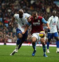 Photo: Mark Stephenson/Sportsbeat Images.<br /> Aston Villa v Portsmouth. The FA Barclays Premiership. 08/12/2007.Villa's Gabriel Agbonlahor holds of Noe Pamarot