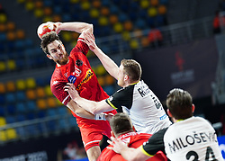14.01.2021, 6th of October Sports Hall, Gizeh, EGY, IHF WM 2021, Österreich vs Schweiz, Herren, Gruppe E, im Bild Boris Zivkovic, Lenny Rubin, // during the IHF men's World Championship group E match between Austria and Switzerland at the 6th of October Sports Hall in Gizeh, Egypt on 2021/01/14. EXPA Pictures © 2020, PhotoCredit: EXPA/ Diener/Eva Manhart<br /> <br /> *****ATTENTION - OUT of AUT and SUI*****