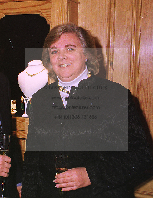 MISS ANNE BECKWITH-SMITH former lady in waiting to Diana, Princess of Wales, at a party in London on 27th January 1999.MNN 3 WORO
