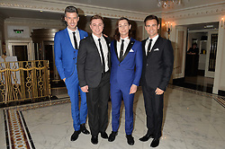 Musical theatre boy band CALLABRO at the annual PINKTOBER Gala presented by Hard Rock Heals at The Dorchester, Park Lane, London on 14th October 2016.  The annual event raises money for The Caron Keating Foundation.